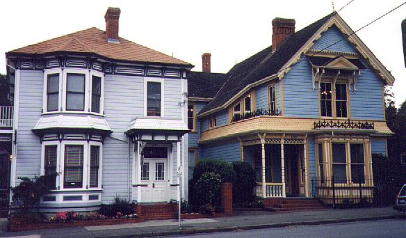 Italianate and a Folk Victorian houses